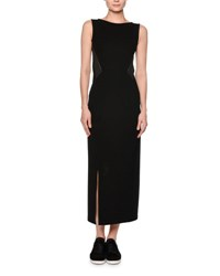 Callens Sleeveless Jersey Maxi Dress Black Gray Blk Grey