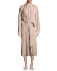 Neiman Marcus Cashmere Long Robe Creme Brulee