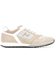 Hogan Panelled Sneakers Nude Neutrals
