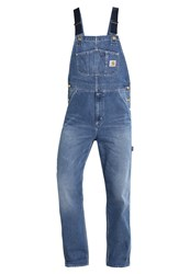 Carhartt Wip Norco Dungarees Blue True Stone Bleached Denim