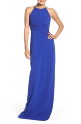 Badgley Mischka Women's Mesh Inset Gown