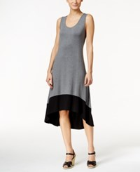 Styleandco. Style And Co. Colorblocked High Low Dress Only At Macy's Mid Heather Grey