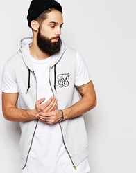 Siksilk Sleeveless Hoodie Grey