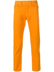 Band Of Outsiders Straight Leg Chinos Yellow And Orange
