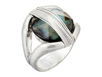 Robert Lee Morris Two Tone Wire Stone Ring Abalone Ring Beige