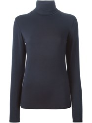 Majestic Filatures Turtle Neck Sweater Blue