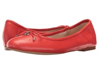 Sam Edelman Felicia Havana Red Dress Nappa Leather Women's Flat Shoes