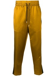 Ami Alexandre Mattiussi Track Pants With Contrasted Side Bands Gold