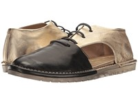 Marsell Side Cut Out Two Tone Oxford Black Platinum Women's Shoes