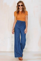Nasty Gal Vintage To Bell And Back Flare Jeans