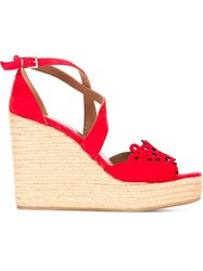 Tabitha Simmons 'Clem' Sandals Red