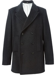 Dondup Double Breasted Coat Grey