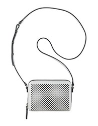 Nine West Ania Perforated Faux Leather Crossbody White