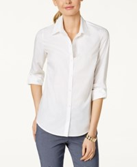 Charter Club Petite Roll Tab Button Down Shirt Only At Macy's