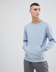 Another Influence Crew Neck Front Pocket Sweat Blue
