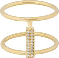 Ileana Makri Women's Pave Diamond And Gold Connected Cage Ring Colorless
