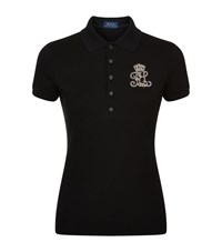 Polo Ralph Lauren Embroidered Logo Short Sleeve Shirt Female Black