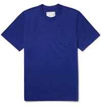 Sacai Slim Fit Cotton Jersey T Shirt Royal Blue