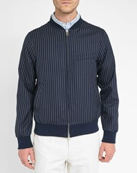 Gant Striped Navy Wool Bomber Jacket