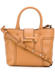 Tod's Double T Tote Bag Brown