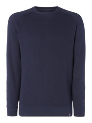 Criminal Men's Stanton Crew Sweater Dark Navy