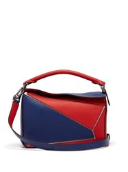 Loewe Puzzle Small Grained Leather Cross Body Bag Red Multi