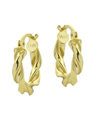 Lord And Taylor 18Kt Gold Swirled Hoop Earrings