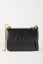 Valentino Garavani Vsling Small Leather Shoulder Bag Black
