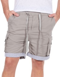William Rast Linen Blend Roll Cuff Shorts Sand
