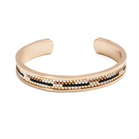 Azuni London Nacona Narrow Bangle In Lynx Gold