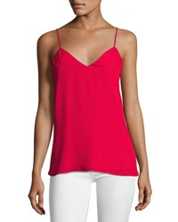 Haute Hippie The Essential Silk Cami Crush Red