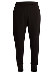 Brunello Cucinelli Stretch Wool Crepe Trousers Black