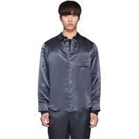 Sies Marjan Blue Washed Satin Sander Shirt