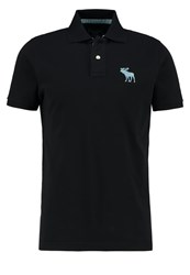 Abercrombie And Fitch Exploded Polo Shirt Black
