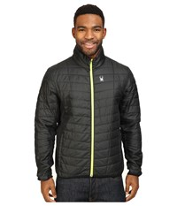 Spyder Rebel Insulator Jacket Black Bryte Yellow Men's Coat Gray