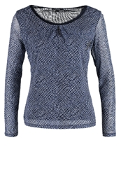 Comma Long Sleeved Top Blau Blue