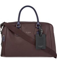 Ted Baker Colour Block Leather Bowler Bag Oxblood