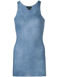 Avant Toi Knitted Tank Top Blue