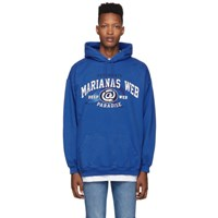 Vetements Blue Marianas Web Hoodie