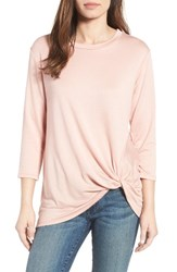 Bobeau Women's Twist Hem Sweatshirt Blush