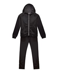 Moncler Hooded Track Jacket W Ruched Pants Black