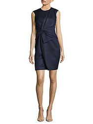 Karen Millen Draped Technique Dress Dark Blue