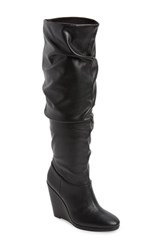Charles By Charles David Holly Wedge Boot Black Leather