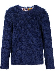 Kit Neale Synthetic Fur Sweater Blue