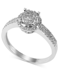 Effy Collection Bouquet By Effy Diamond Circle Cluster Ring 1 2 Ct. T.W. In 14K White Gold