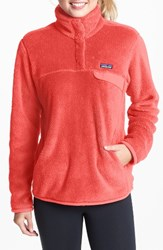 Patagonia Women's 'Re Tool' Snap Pullover Carve Coral Spiced Coral