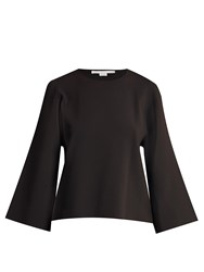 Stella Mccartney Round Neck Slashed Sleeve Sweater Black
