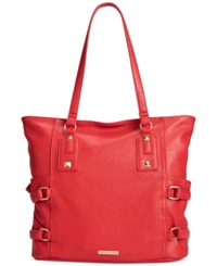 Rampage Side Buckle Tote Red