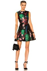 Valentino Tropical Dream Dress In Black Floral Animal Print Black Floral Animal Print