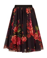 Ted Baker Ondra Juxtapose Rose Tutu Skirt Red